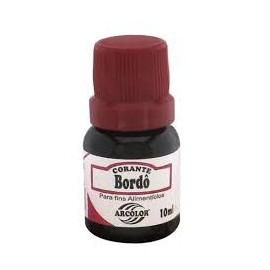 Corante líquido bordô arcolor 10 ml