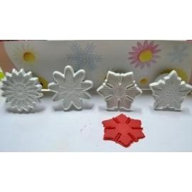 Marcador - cortante de flores - 4 motivos diferentes