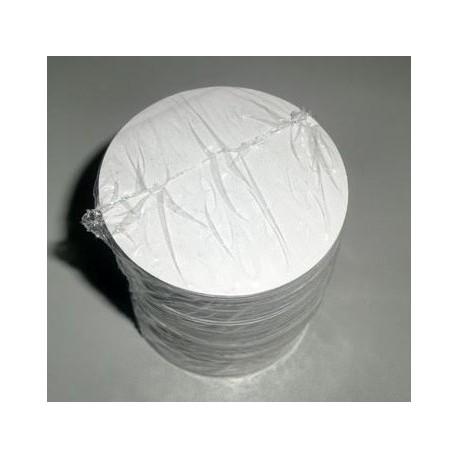 Bases papel bolo de arroz - 1000 unid. - 6 cms