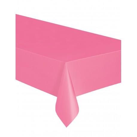 Toalha de mesa rosa plástica com 1,37x2,74 Unique