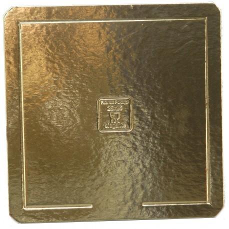 Base cartão dupla face dourada - preta com 34x34 cm