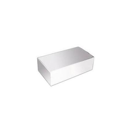 Caixa cartolina branca 42x16 cm rolo - torta - pack 50 unid.