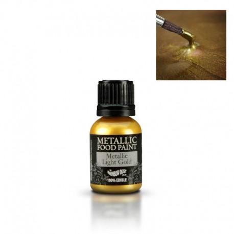 Corante líquido metalizado ouro claro 25 ml