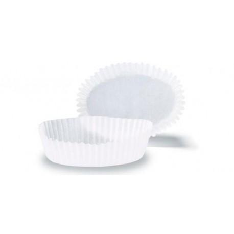 Forma papel branca para tartlet 8 cms diametro e 2,3 cm altura -70 unid.