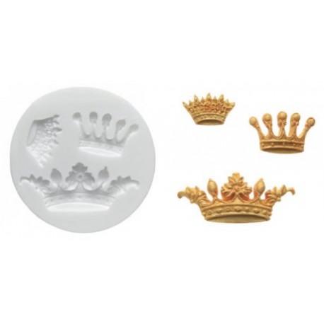 Molde silicone coroa - 3 modelos - silikomart