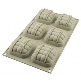 Molde Silicone 3D elegance Silikomart semifrio terracota