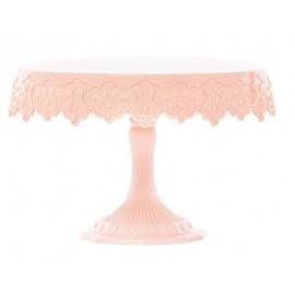 Expositor - suporte bolo rosa Pavonidea 23 cms