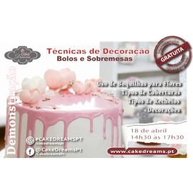 Demonstração ::: Técnicas de Decoração de Bolos e Sobremesas 18/4/2018