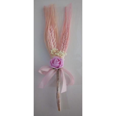 Ramo espiga de centeio rosa comunhão