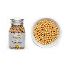 Pérolas cor ouro Decora 100 gr.