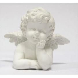 Busto Anjo decorativo branco com 10 cm - individual