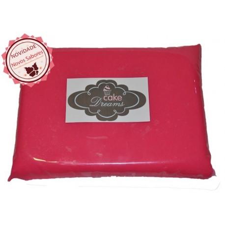 Pasta de açúcar Rosa Choque 1 kg tradicional