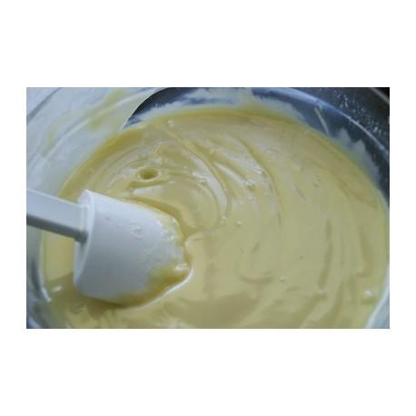Creme -recheio-cobertura de chocolate branco 250 gr.
