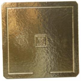 Base cartão dupla face dourada - preto 30x30 cm