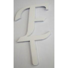 Letra E em acrílico com 5,5 cms altura