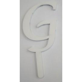 Letra G em acrílico com 7 cms altura