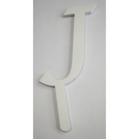 Letra J em acrílico com 7 cms altura