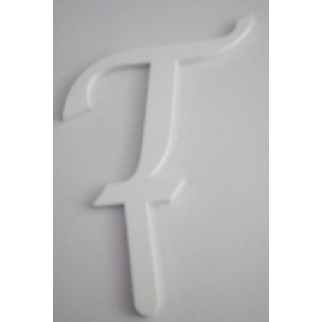 Letra T em acrílico com 5,5 cms altura