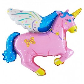 Balão unicornio rosa 90 cms