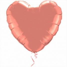 Balão em forma de coração rosa 45 cms