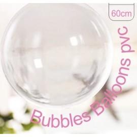 Balão esfera transparente cristal 60 cms - pack 5 unid.