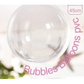 Balão esfera transparente cristal 45 cms - pack 5 unid.