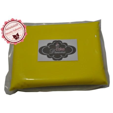 Pasta açúcar Amarela 1 kg sabor sugo chiclet