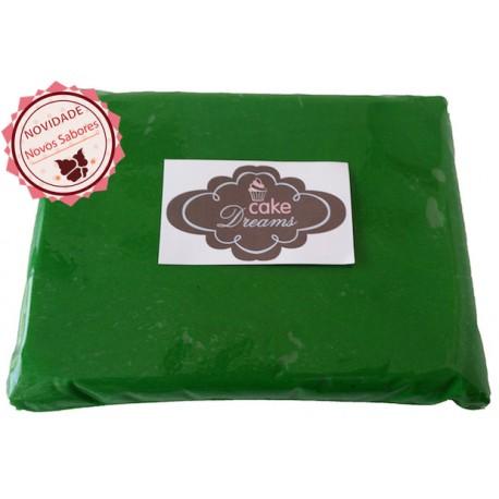 Pasta de açúcar Verde Escuro 1 kg sabor sugo chiclet