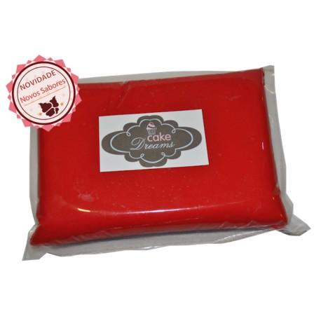 Pasta de açúcar Vermelha 1 kg sabor sugo chiclet