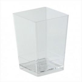 Copo quadrado transparente dekora sobremessa- mousse - gelatina - unid.