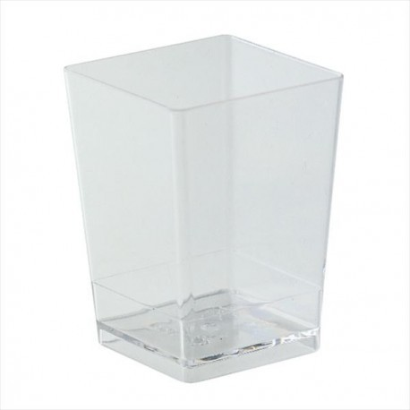 Copo quadrado transparente dekora - mousse - gelatina - unid.