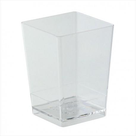 Pack 10unid. Copo quadrado transparente dekora - mousse - gelatina