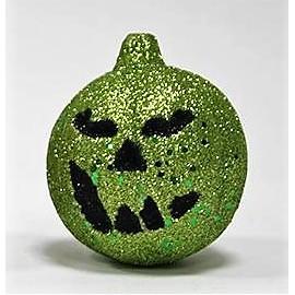 Abóbora decorativa brilhante verde 7x9 cms dia das bruxas