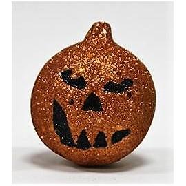 Abóbora decorativa brilhante laranja 7x9 cms dia das bruxas