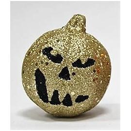 Abóbora decorativa brilhante creme 7x9 cms dia das bruxas