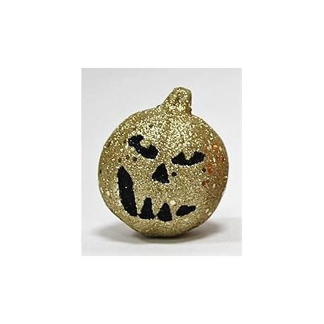 Abóbora decorativa brilhante creme 7x9 cms