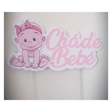 Topo De Bolo Chá De Bebé Menina Baby Shower