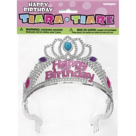 Topo de bolo tiara - coroa - Happy Birthday Unique