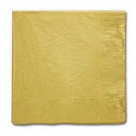 Guardanapo papel dourado 33x33 cms Unique