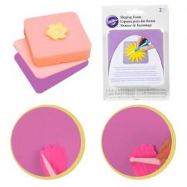 Conj. 3 esponjas para modelar flores ou figuras Wilton