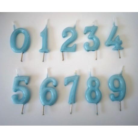 Vela azul nº 0 com 6 cms