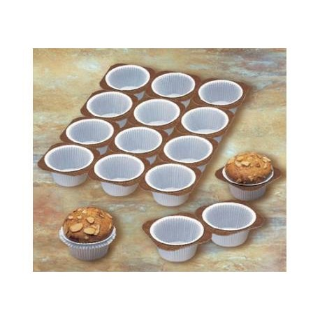 Tabuleiro forma muffin papel 24 unid.