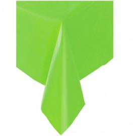 Toalha de mesa verde lima plástica com 1,37x2,74 mt Faucy