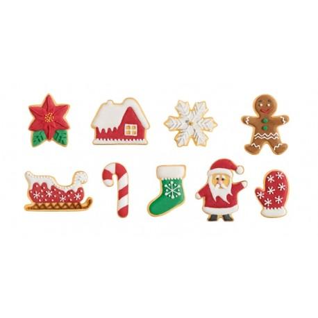 Corta massas de Natal 9 peças Tescoma
