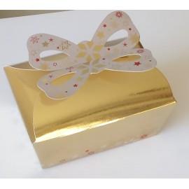 Pack 25 unid. Caixa dourada com laço