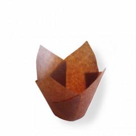 Forma papel tulipa muffins - miniatura 11x11 cms - 25 unid.