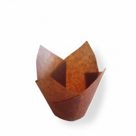 Forma papel tulipa muffins - miniatura 11x11 cms - pack 200 unid.