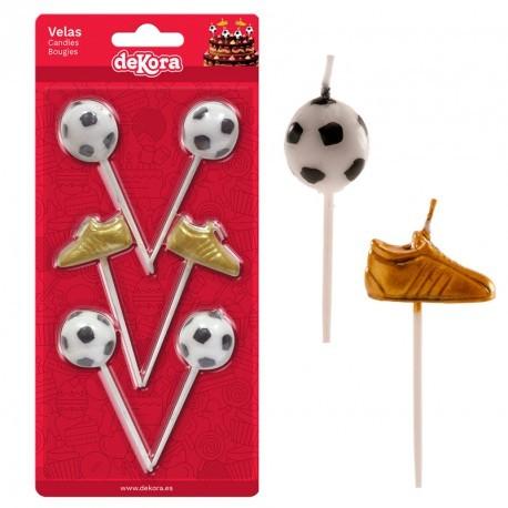 1735abb1514e4 conjunto-vela-com-chuteira-bola-futebol-dekora-bolo-aniversário