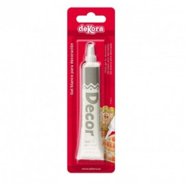 Bisnaga gliter branco 25 gr. - Writing icing - dekora