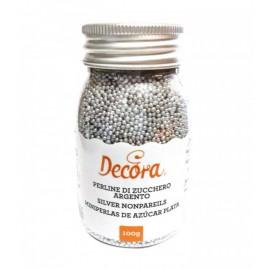 Pérolas mini cor prata Decora 100 gr.